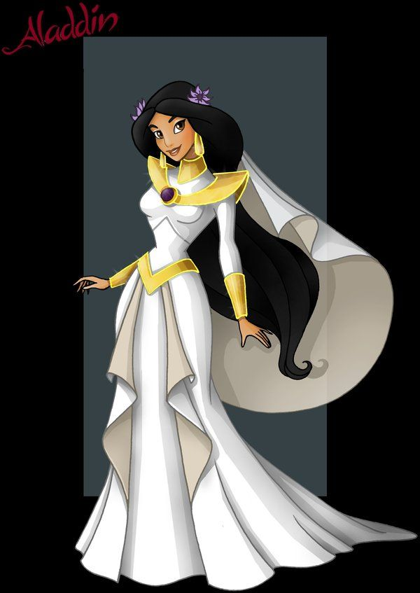 Princess jasmine wedding dress by for Jasmine wedding dress disney