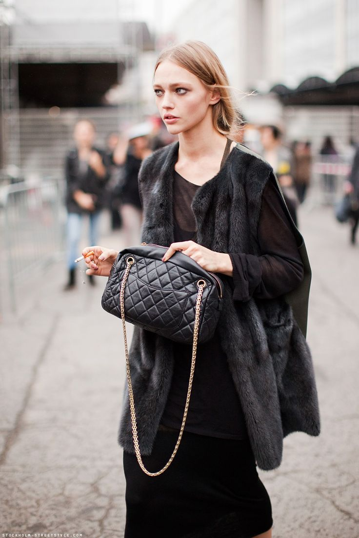 layers of cool. #SashaPivovarova #offduty in Paris.