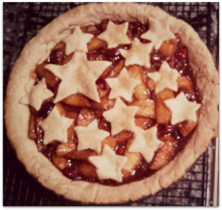 Whiskey Cherry Apple Pie - Morsels & Moonshine This patriotic pie is ...
