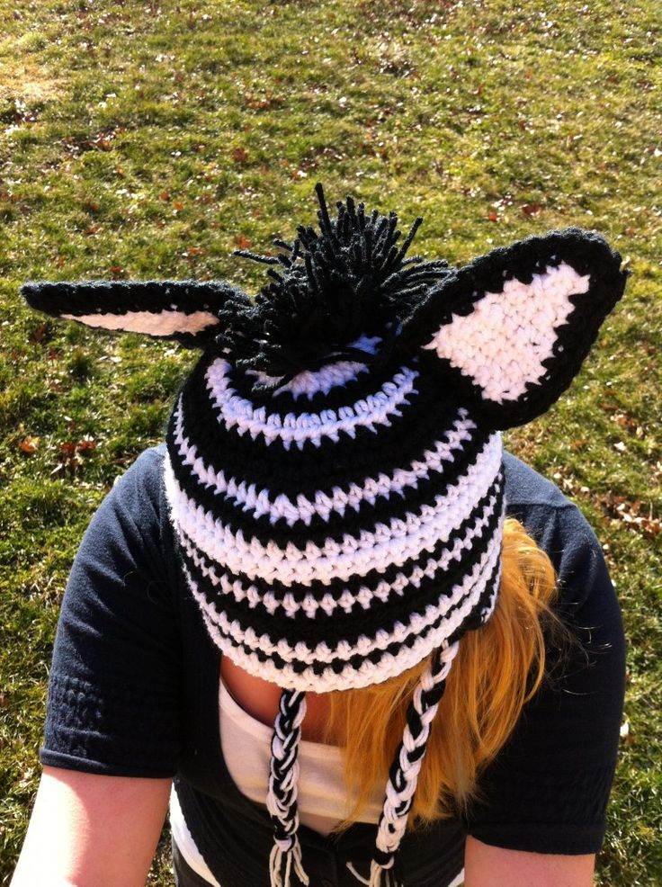 Crochet Zebra Hat : crochet Zebra hat Things I want to make Pinterest