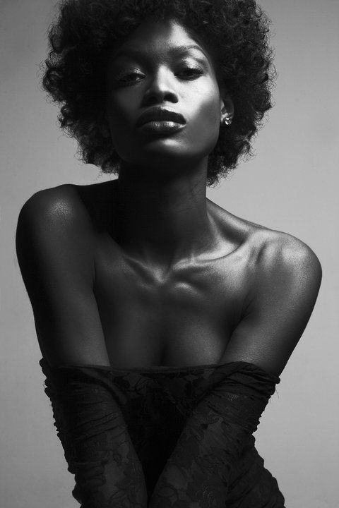 Black fashion female model sexy