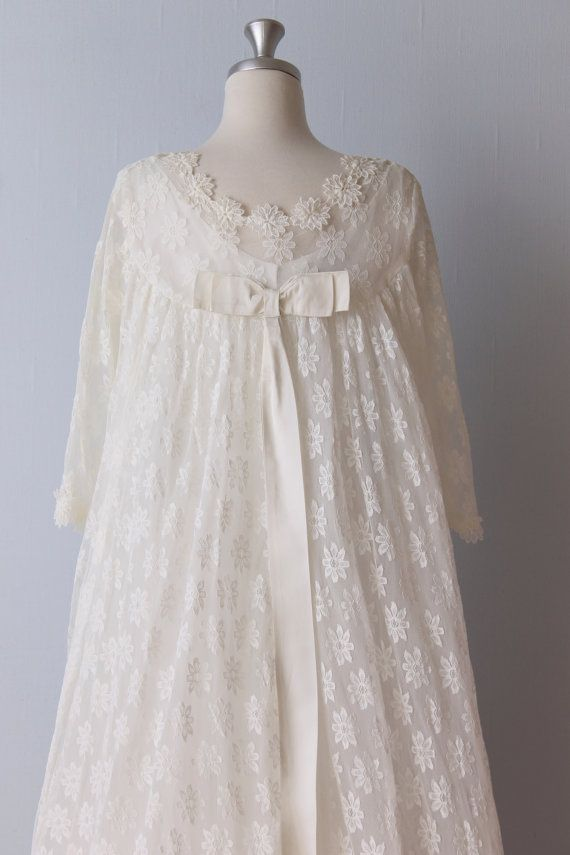 Vintage 1960s wedding dress 60s bridal gown lace for 60s style wedding dresses
