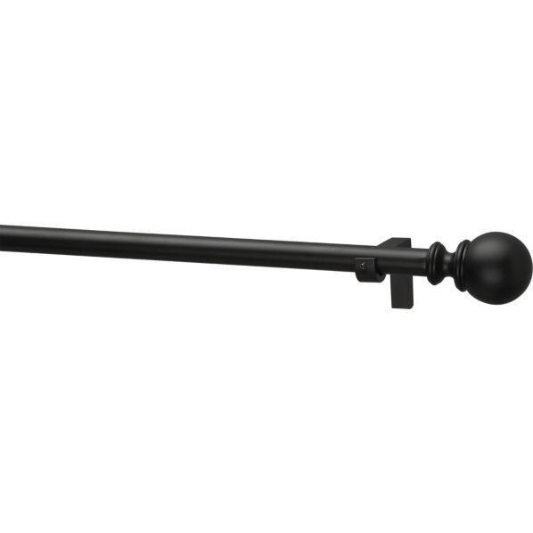 "BlackOrb curtain rod http://www.crateandbarrel.com/black-75x120-170"" $ ..."