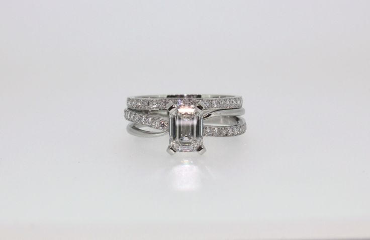 with matching wedding band. Platinum. Diamond. Hand-made in Melbourne ...