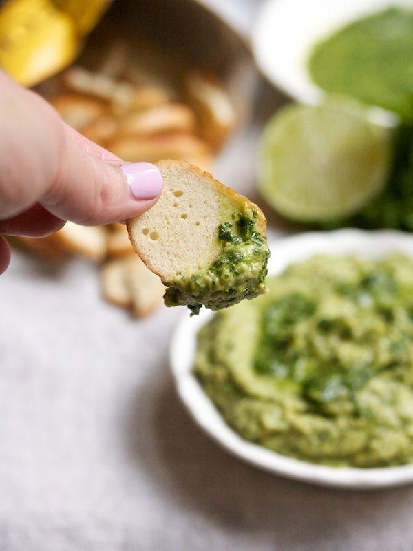 Herby Avocado Hummus #vegetarian #vegan | Bakkkkking | Pinterest