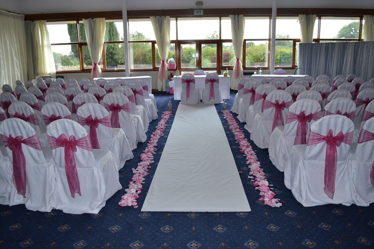 By the sophisticated touch chair covers by design on pink bows