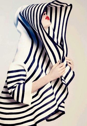 black and white stripe hoodie.