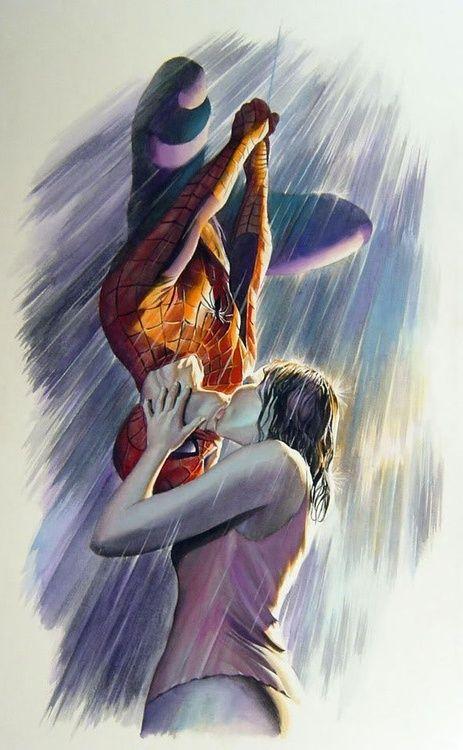 Spider-Man & MJ by Alex Ross | Marvel Universe | Pinterest