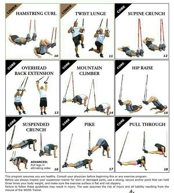 Pin by Louise Mary-Jane on Fitness: Trx exercises | Pinterest