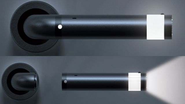 LEDoorHandle concept lets you unscrew the handle in emergencies when you don't have another torch to hand.