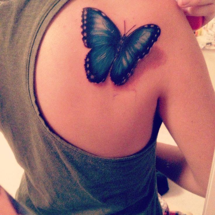 Blue morpho butterfly tattoo - photo#1