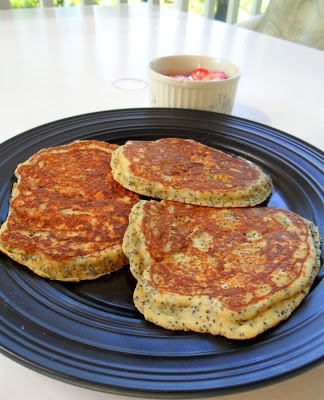 Whole-Wheat Lemon Poppy Seed Pancakes from Hungry Gator Gal