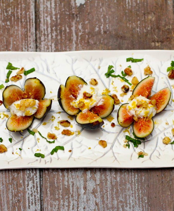 Stuffed Fresh Figs with Ricotta & Honey | #glutenfree #grainfree # ...
