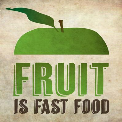 """Food is fast food."""