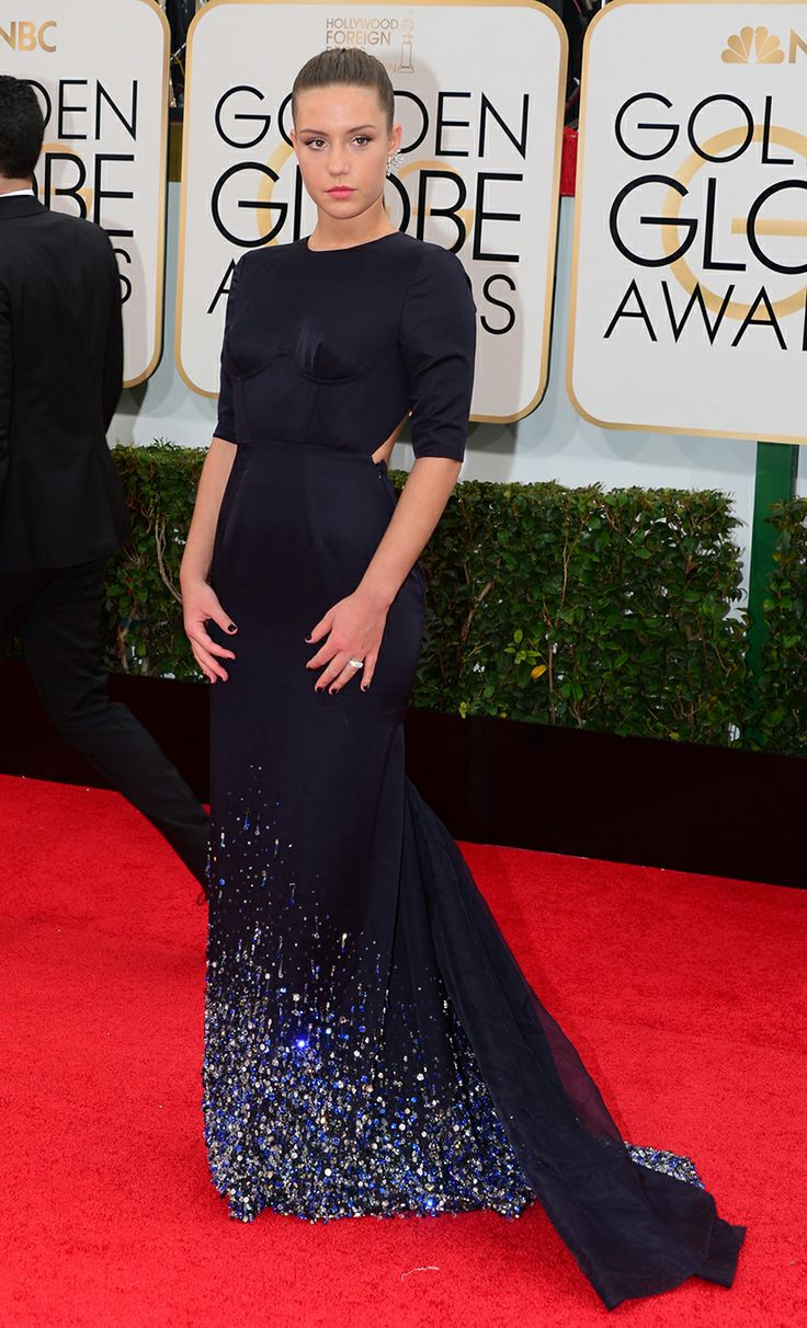 Golden Globes Best Dressed: Adele Exarchopoulos in Miu Miu