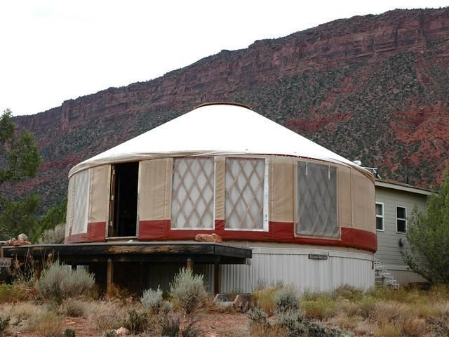 Yurt With Off Grid Amenities Shelters Pinterest