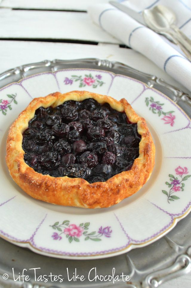 Peach, Blueberry & Lemon Thyme Galettes Recipe — Dishmaps