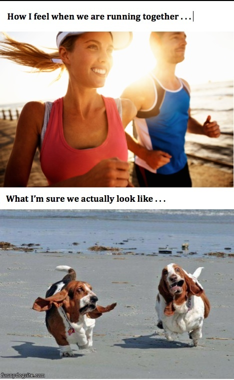 I see this very happy middle aged couple who jog by my office about this time every day.  I dedicate this meme to their persistence in exercising together regularly!