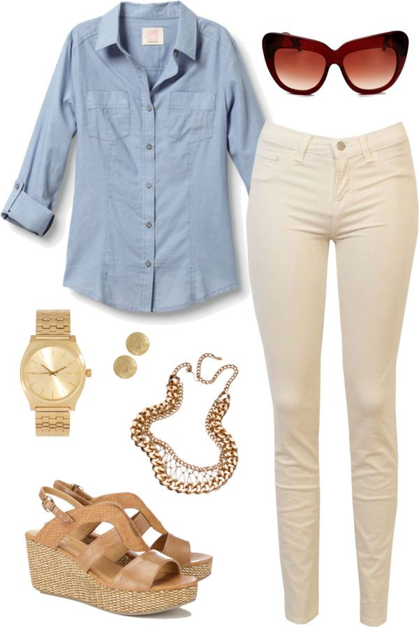 U0026quot;cream jeans | outfit twou0026quot; | My Style Pinboard | Pinterest