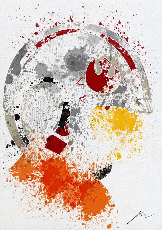 Star Wars Splatter Art: Luke Skywalker by  Arian Noveir