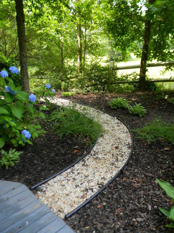 Pea gravel path garden pinterest - How to make a garden path with gravel ...