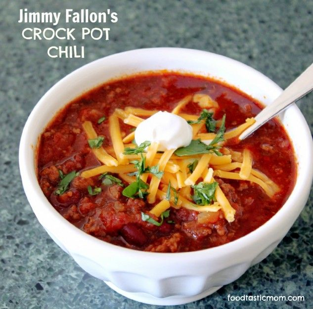 Jimmy Fallon's Crock Pot Chili - as tasty as he is funny and ...