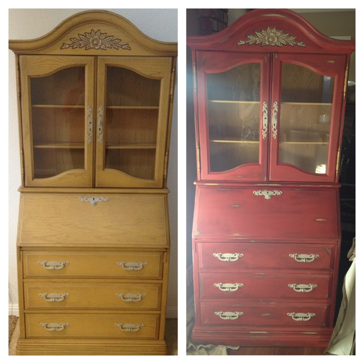 First DIY refurbished furniture project was a success! Before + After.