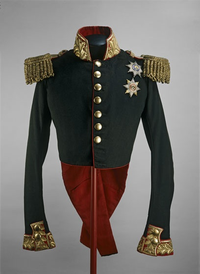 Coronation uniform of Nicholas I, Russia, 1826.  Wool coat with metal braid.