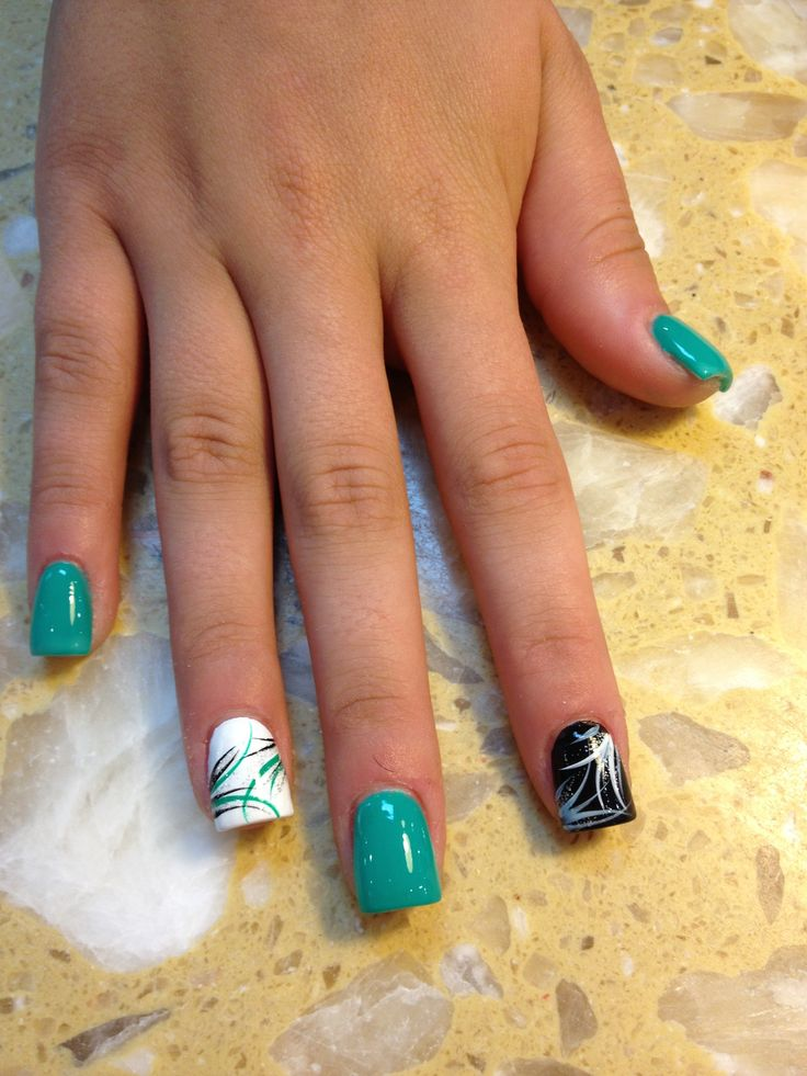 Country Girl Acrylic Nail Designs