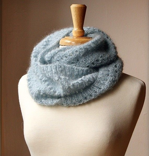 Knitted Infinity Cowl Pattern : Snood Knitting Pattern - Genevieve Cowl Neckwarmer Scarf ...