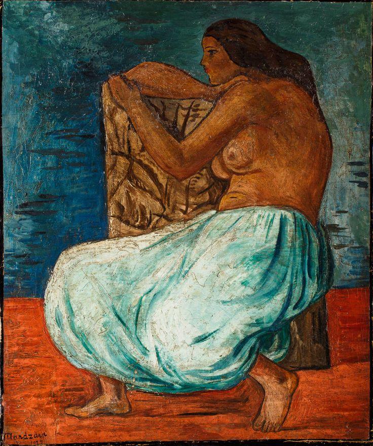Szymon Mondzain (1890-1979), Odaliska; 1922 r.; olej, płótno