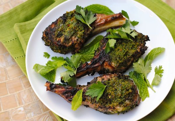 Herb-Crusted Grilled Lamb Chops - Whip up a quick herb and spice rub ...