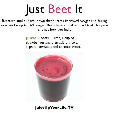 Just Beet it - nutriblast recipe