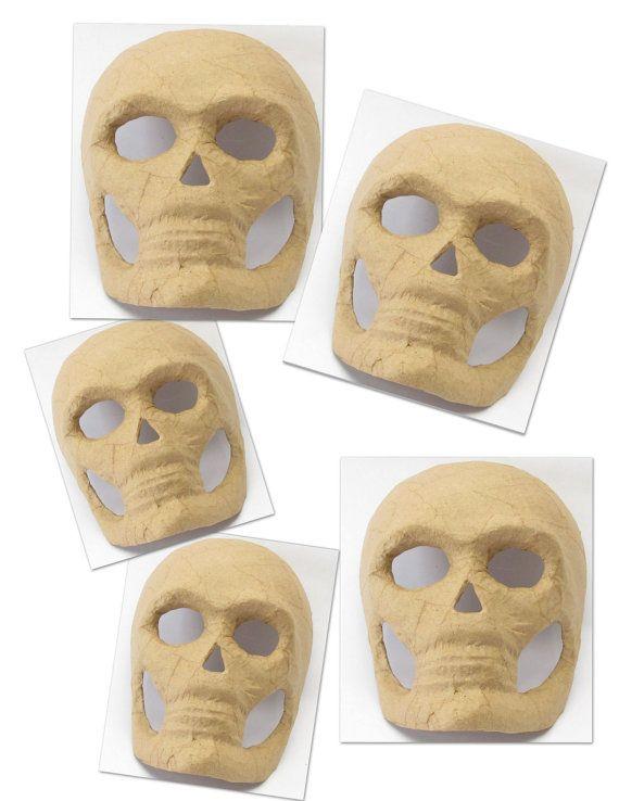 ... Wholesale LOT of 20 Paper Mache Skull Masks by TesorosUnicos, $85.00