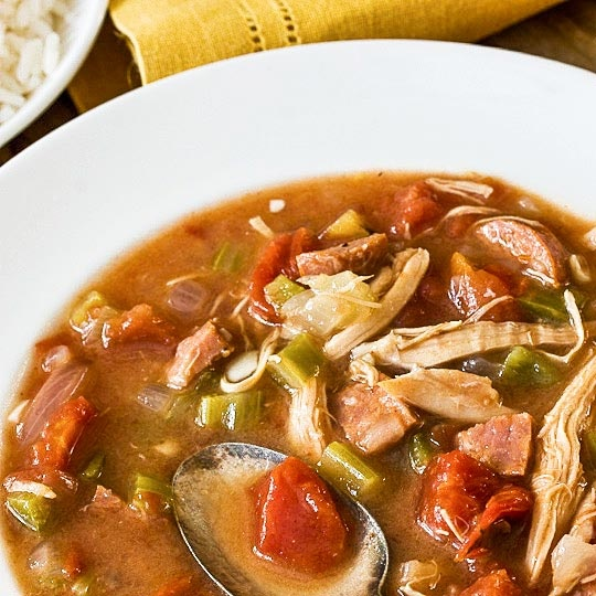 Chicken & Andouilee Gumbo... had a version of this eating out last ...