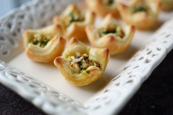 Herbed Goat Cheese Puff Pastry Cups | Nummy Foody Goodies | Pinterest