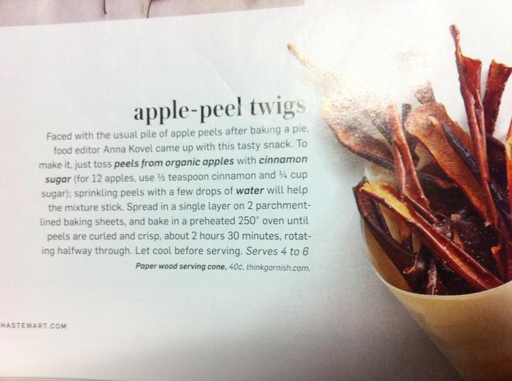 Apple peel recipe | Apple of My Eye | Pinterest