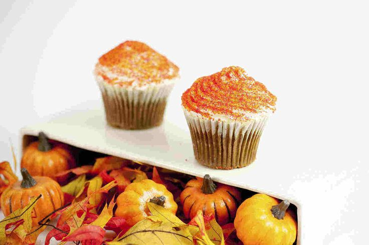 Pumpkin Cupcakes with Cream Cheese Icing | Recipe