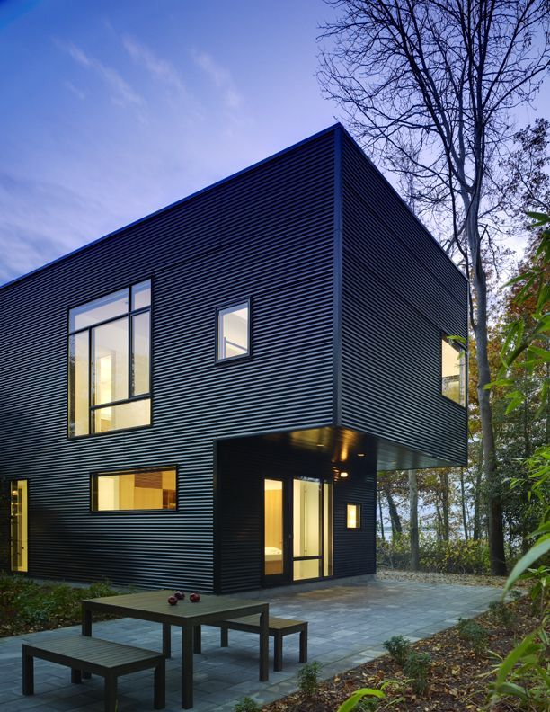 Siding siding ideas pinterest for Modern metal buildings