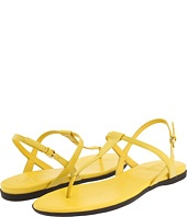 Yellow strappy flat sandals?