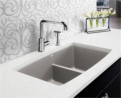 Farmhouse Sink With Divider : Kitchen sink with low divider to low washing large items and still ...