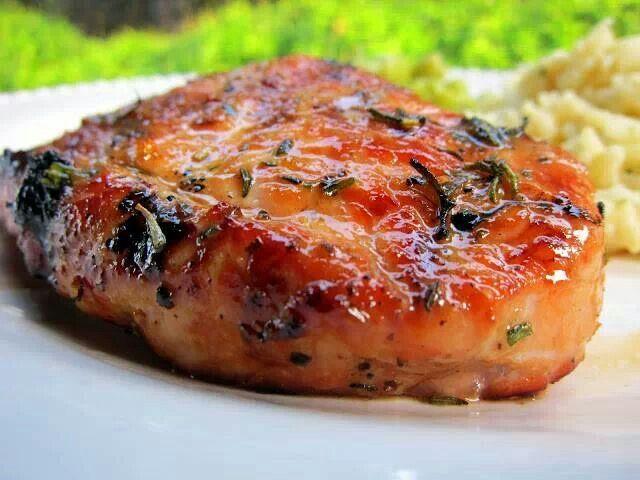 Honey rosemary pork chops | Don't Eat So Much Little Piggy | Pinterest