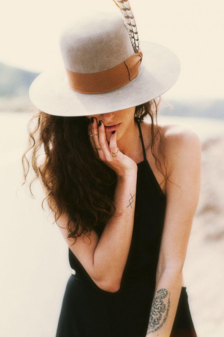 Wide brim hats.