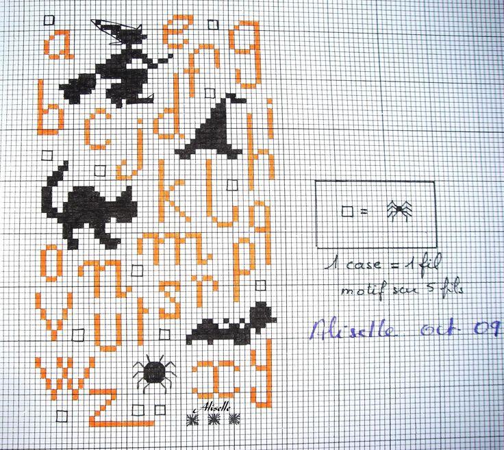 halloween alphabet chart