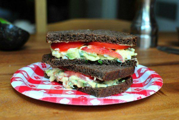 Creamy Avocado Egg Salad | Burgers, Sandwiches, wraps... | Pinterest