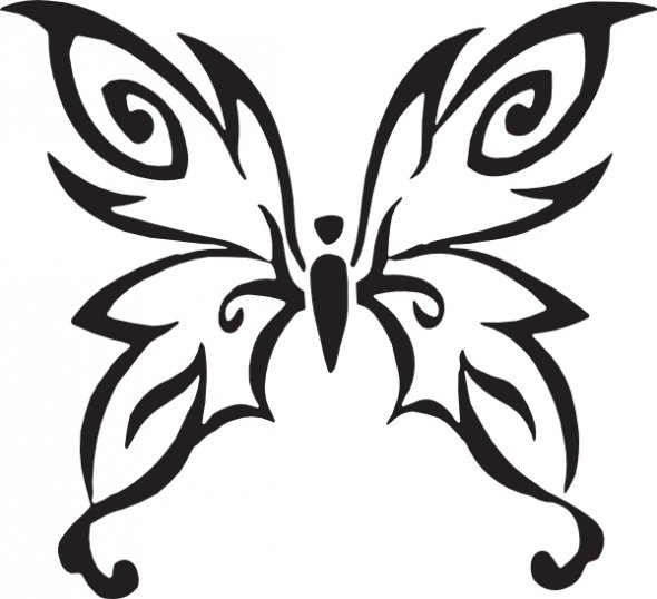 Abstract Butterfly Coloring Pages : Butterfly coloring pages