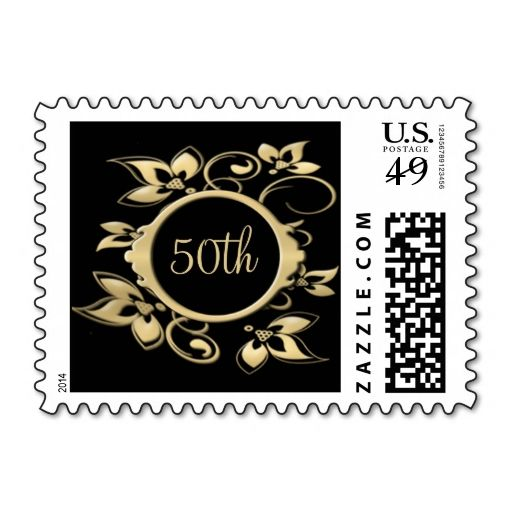 50th Wedding Anniversary Or Birthday Postage