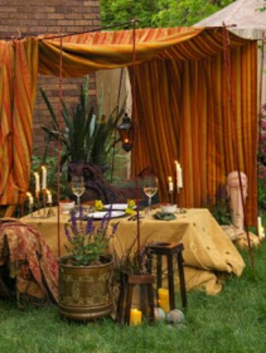 Bohemian Backyard Party : Beautiful Setting  Party  Bohemian Gypsy  Pinterest