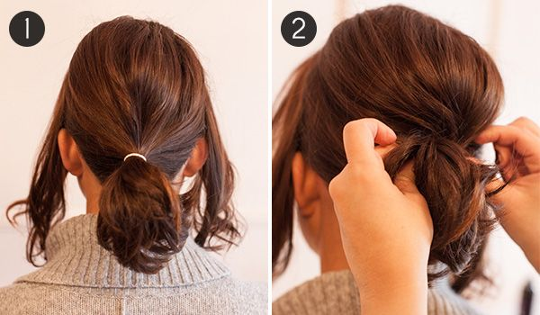 Hairstyles For Short Hair Tied Up : Pony Up: How to Make Short Hair Look Full in a Ponytail Divine ...