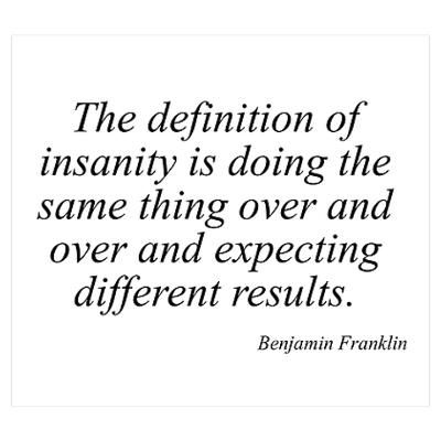 Infographic definition of insanity quote